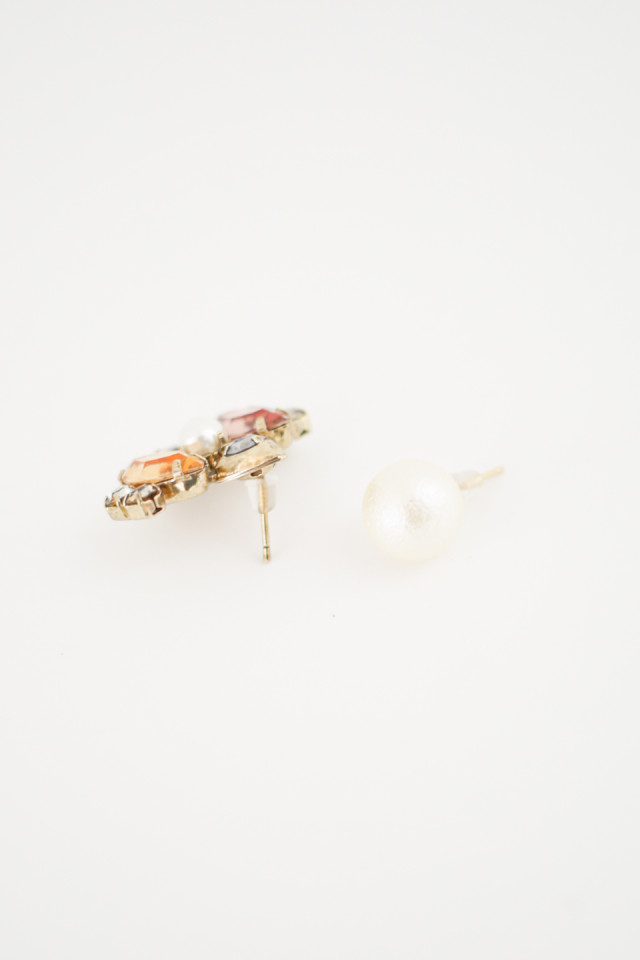 One Side Bijou & Cotton Pearl  Pierce商品画像 2 : PLAY ROOM│プレイルーム公式通販サイト