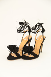 Fringe Lace-up Heel Sandals商品画像 : PLAY ROOM│プレイルーム公式通販サイト