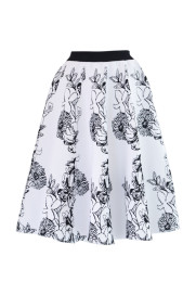 FLOWER JACQUARD KNIT SKIRT【AULA】商品画像 : PLAY ROOM│プレイルーム公式通販サイト