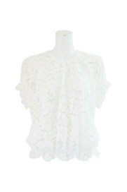 CORD LACE FRENCH SLEEVE BLOUSE / AULA商品画像 : PLAY ROOM│プレイルーム公式通販サイト